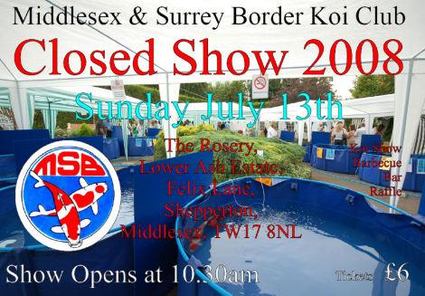 Middlesex and Surrey Border's (MSB) Koi Show